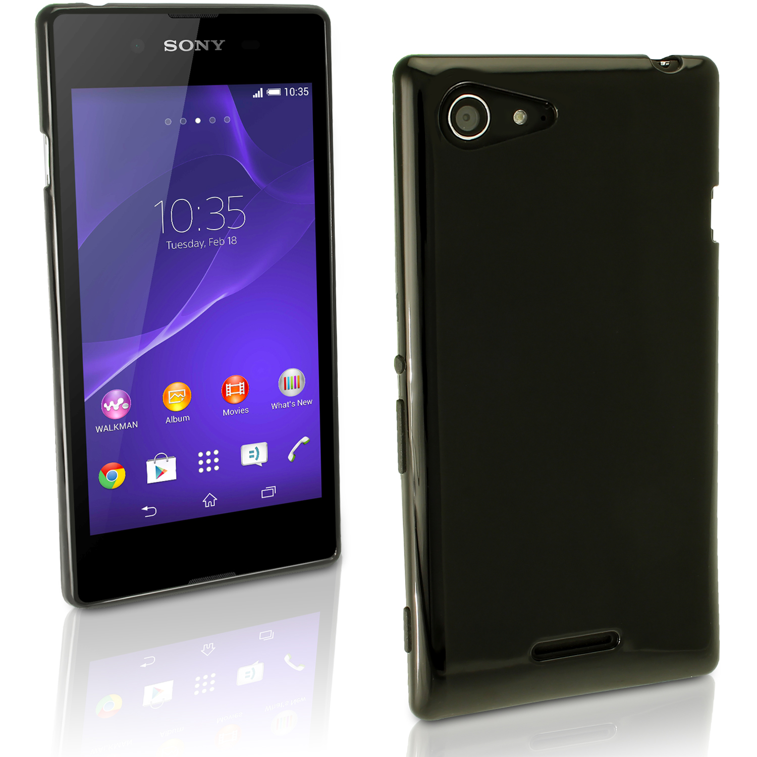 on sale 13a3f 2e994 Details about Glossy TPU Gel Case for Sony Xperia E3 D2203 D2206 Skin  Bumper Cover Screen Prot