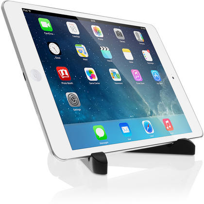 iGadgitz Black Adjustable Tablet Plastic Holder Stand (iPad Air Mini, Samsung Tab, Sony Xperia Tablet, ASUS, Kobo etc) Thumbnail 4