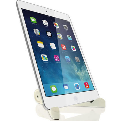 iGadgitz White Adjustable Tablet Plastic Holder Stand (iPad Air Mini, Samsung Tab, Sony Xperia Tablet, ASUS, Kobo etc) Thumbnail 3