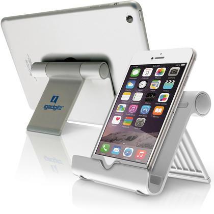 iGadgitz Aluminium Adjustable Tablet & Smartphone Holder Stand (iPhones iPad Motorola Samsung Sony Xperia HTC etc) Thumbnail 1