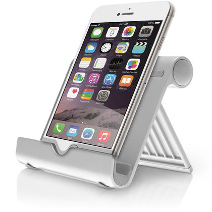 iGadgitz Aluminium Adjustable Tablet & Smartphone Holder Stand (iPhones iPad Motorola Samsung Sony Xperia HTC etc) Thumbnail 5