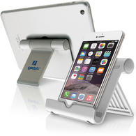 iGadgitz Aluminium Adjustable Tablet & Smartphone Holder Stand (iPhones iPad Motorola Samsung Sony Xperia HTC etc)