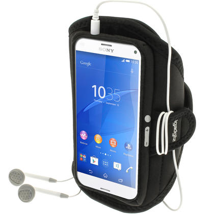 iGadgitz Water Resistant Sports Jogging Gym Armband for Sony Xperia Z3 Compact D5803 D5833 Thumbnail 1