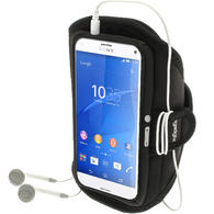 iGadgitz Water Resistant Sports Jogging Gym Armband for Sony Xperia Z3 Compact D5803 D5833