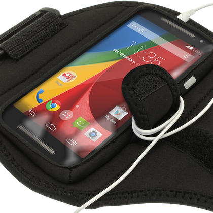 iGadgitz Water Resistant Sports Jogging Gym Armband for Motorola Moto G 2nd Generation & Moto G 3rd Generation Thumbnail 3