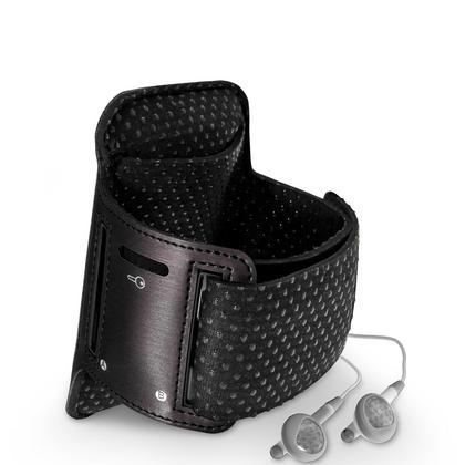 iGadgitz Reflective Anti-Slip Black Sports Jogging Gym Armband for Sony Walkman NWZ-A15 NWZ-A17 NW-A25 NW-A27 Thumbnail 4