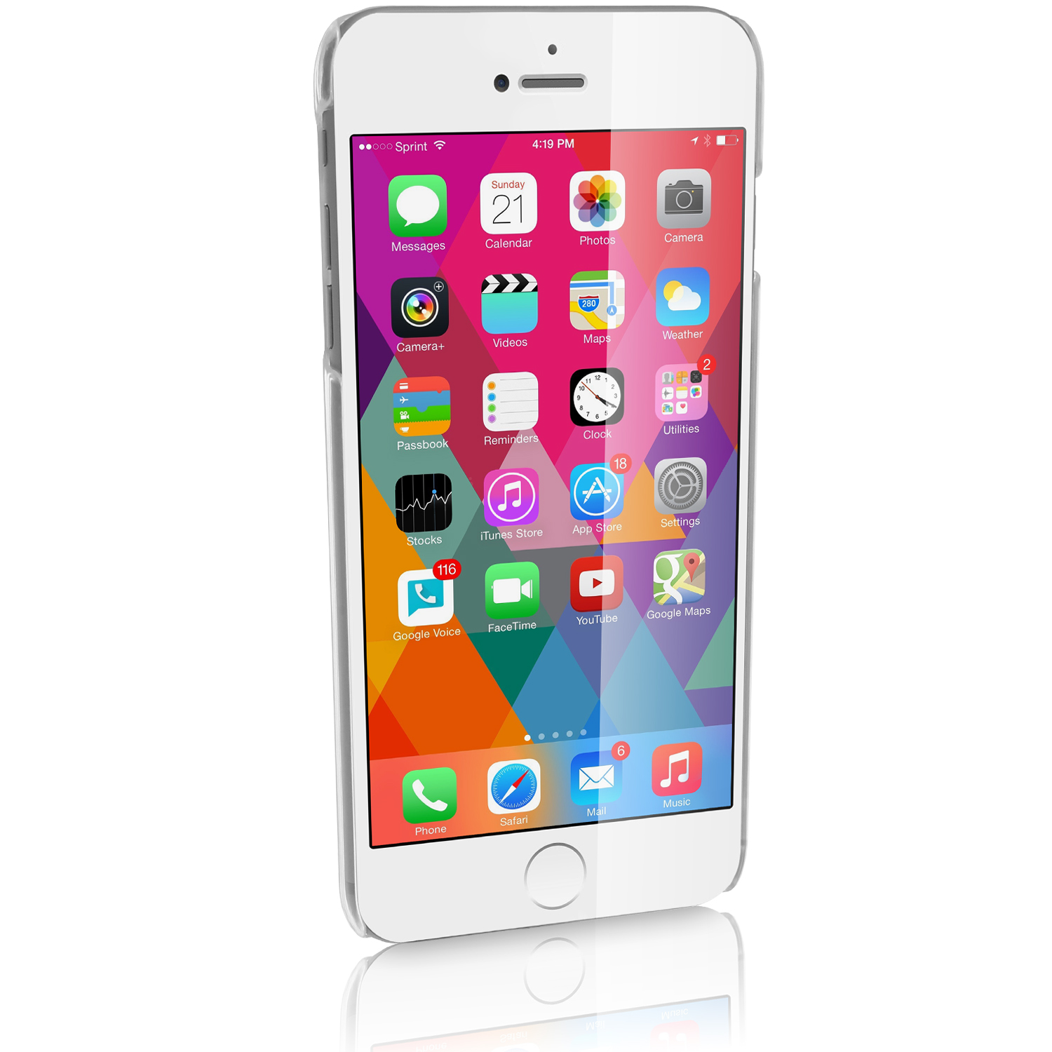 Apple IPhone 6 Plus 55 2014 Clear Transparent PC Hard Case Screen Protector Thumbnail
