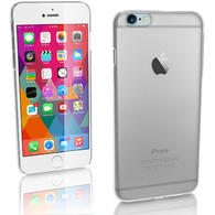 "Apple iPhone 6 Plus 5.5"" 2014 Clear Transparent PC Hard Case + Screen Protector"
