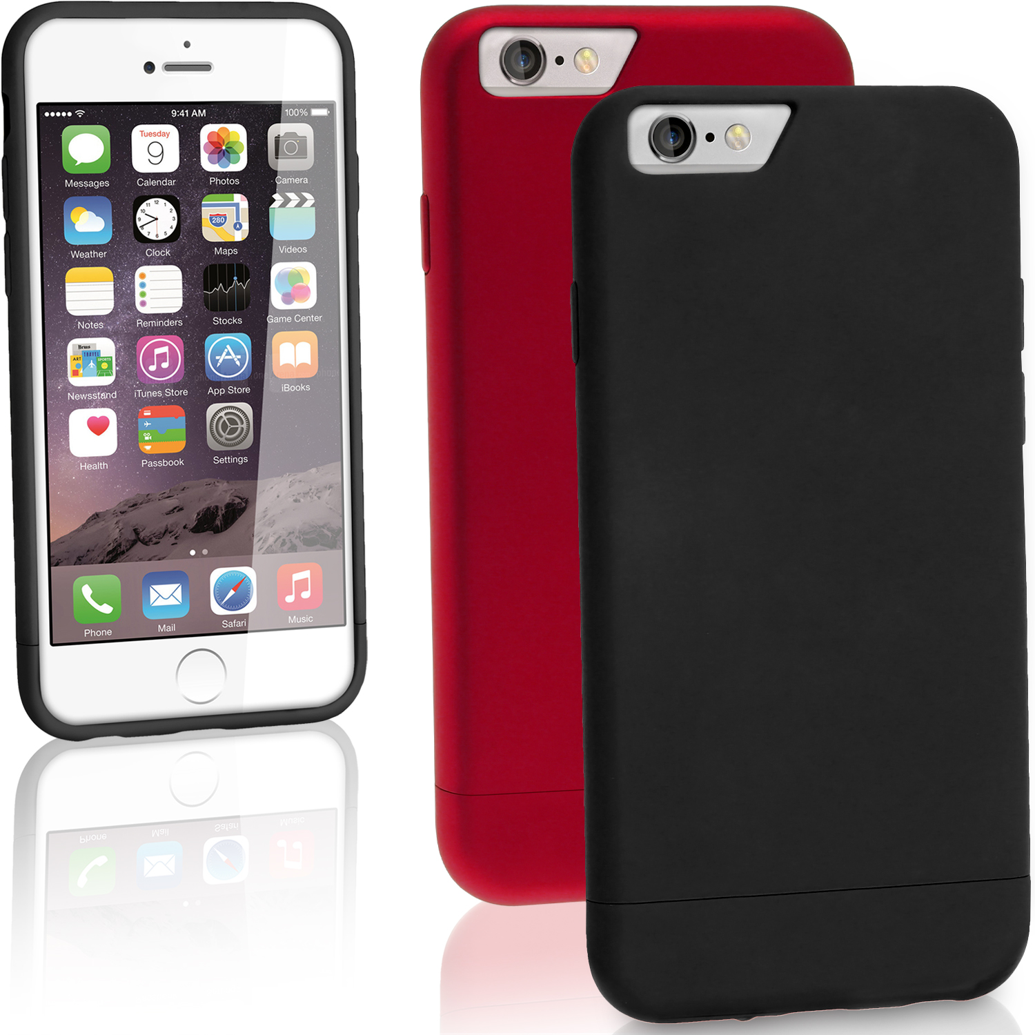 "iGadgitz Glider PC Hard Case Cover for Apple iPhone 6 & 6S PLUS 5.5"" Protective Shell + Screen Protector"