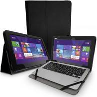 "iGadgitz PU Leather Case for Asus Transformer Book T200TA 11.6"" with Stand + Sleep/Wake + Stylus Holder + Screen Prot."