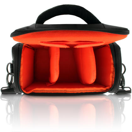 iGadgitz Medium Black Water Resistant SLR DSLR Bridge Messenger Camera Bag with Rain Cover + Shoulder & Waist Strap Thumbnail 3