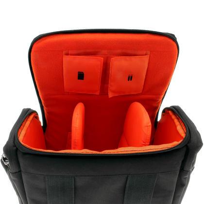 iGadgitz Medium Black Water Resistant SLR DSLR Bridge Messenger Camera Bag with Rain Cover + Shoulder & Waist Strap Thumbnail 4