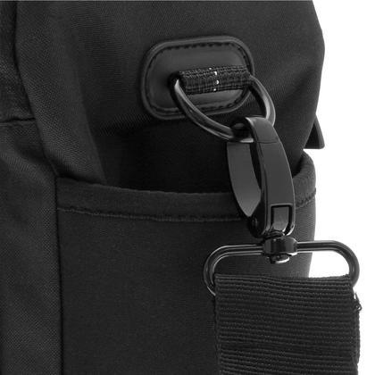 iGadgitz Medium Black Water Resistant SLR DSLR Bridge Messenger Camera Bag with Rain Cover + Shoulder & Waist Strap Thumbnail 6