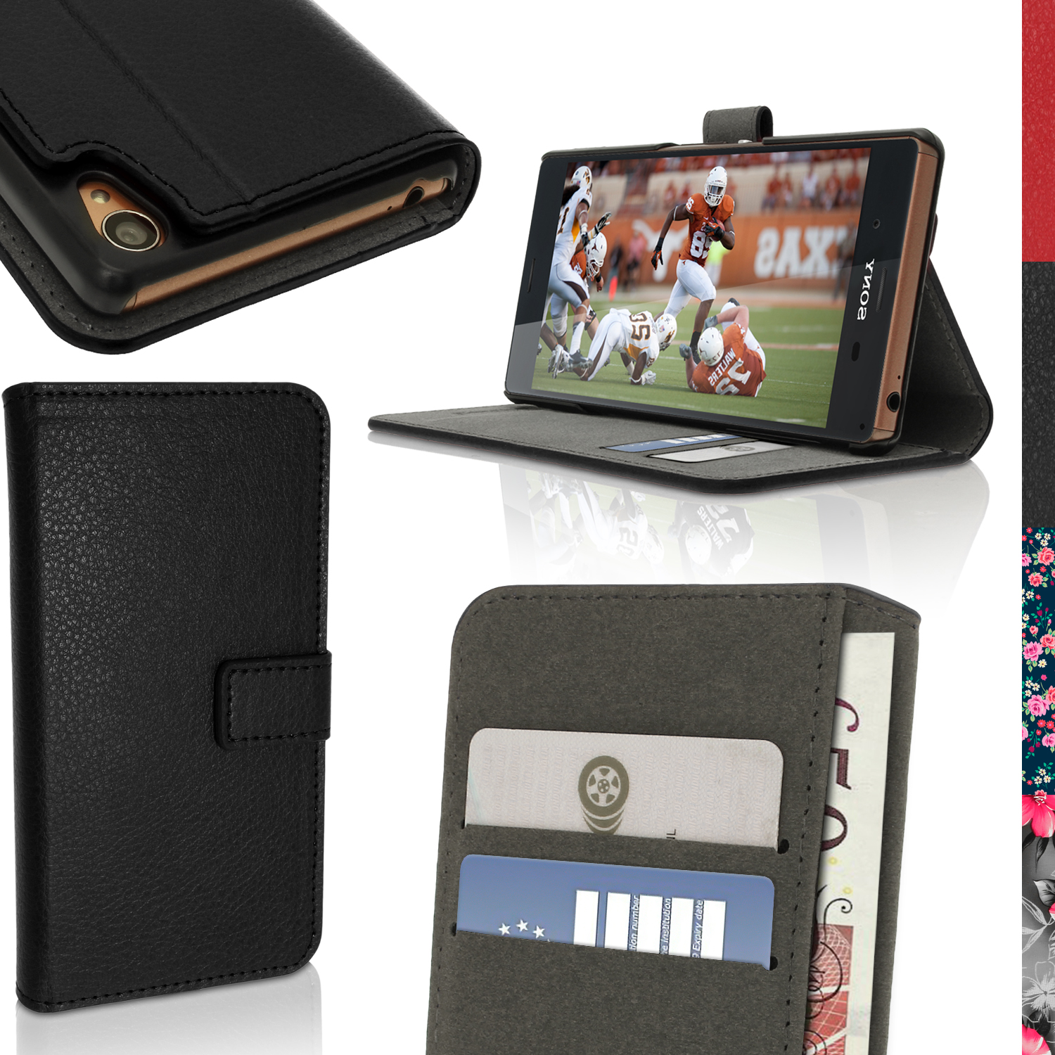 BOOK STYLE PU LEATHER CASES FOR SONY XPERIA Z3 D6603