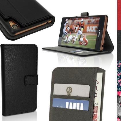 BOOK STYLE PU LEATHER CASES FOR SONY XPERIA Z3 D6603 Thumbnail 1