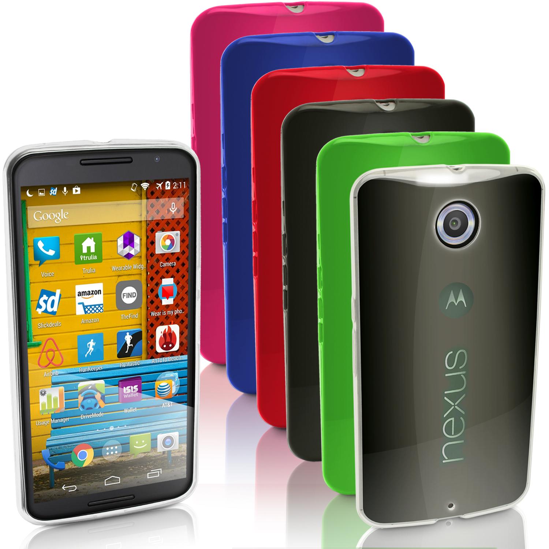 iGadgitz Glossy TPU Gel Skin Case Cover for Motorola Google Nexus 6 XT1100 XT1103 + Screen Protector