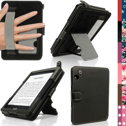 iGadgitz PU Leather Case Cover for Amazon Kindle Voyage with Viewing Stand + Auto Sleep Wake + Hand Strap Thumbnail 1