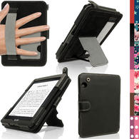 iGadgitz PU Leather Case Cover for Amazon Kindle Voyage with Viewing Stand + Auto Sleep Wake + Hand Strap