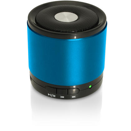 iGadgitz Wireless Portable Bluetooth 2.1 Stereo Mini Portable Travel Speakers (Music streaming and Microphone for Hands free Calling) with FM Radio and Micro SD/TF Card Slot ? Blue Thumbnail 1