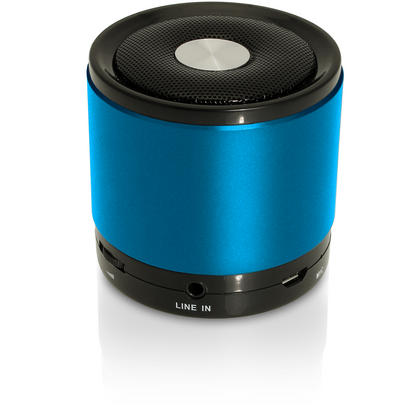 iGadgitz Wireless Portable Bluetooth 2.1 Stereo Mini Portable Travel Speakers (Music streaming and Microphone for Hands free Calling) with FM Radio and Micro SD/TF Card Slot ? Blue Thumbnail 3