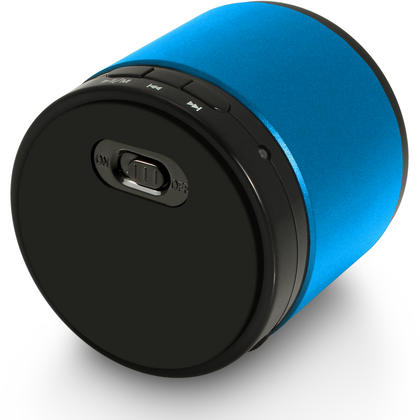 iGadgitz Wireless Portable Bluetooth 2.1 Stereo Mini Portable Travel Speakers (Music streaming and Microphone for Hands free Calling) with FM Radio and Micro SD/TF Card Slot ? Blue Thumbnail 5