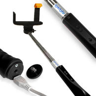 iGadgitz 2nd Generation Selfie Stick with Built-in Bluetooth Remote Shutter & Zoom Control for Samsung Galaxy S3 & S4