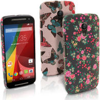 iGadgitz '3D Designer Collection' PC Hard Case Cover for Motorola Moto G 2nd Generation 2014 XT1068 + Screen Protector