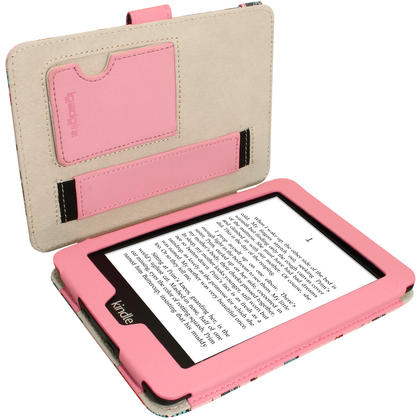 iGadgitz 'Desginer Collection' PU Leather Case for Amazon Kindle Paperwhite 2015 2014 2013 2012 With Sleep Wake + Stand  Thumbnail 2