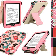 iGadgitz 'Desginer Collection' PU Leather Case for Amazon Kindle Paperwhite 2015 2014 2013 2012 With Sleep Wake + Stand