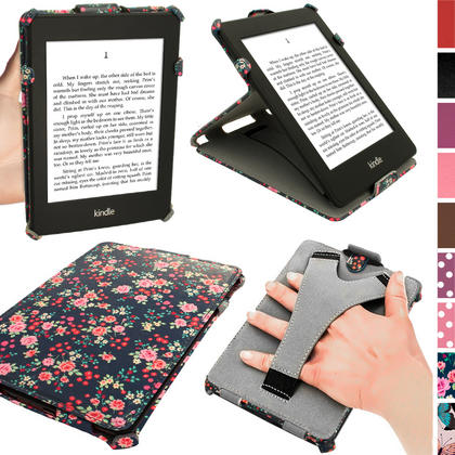 iGadgitz 'Desginer Collection' Executive PU Leather Case for Amazon Kindle Paperwhite 2015 2014 2013 2012 + Sleep Wake Thumbnail 1