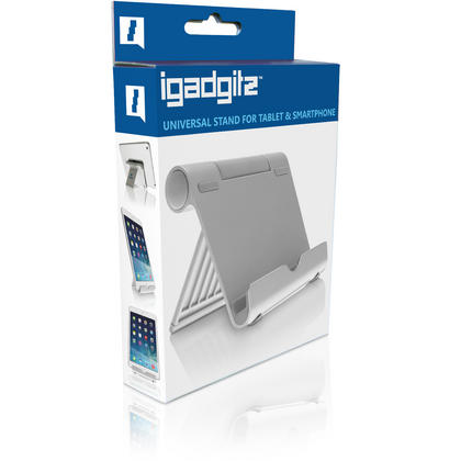 iGadgitz Black Aluminium Adjustable Tablet & Smartphone Holder Stand (iPhones iPad Motorola Samsung Sony Xperia HTC etc) Thumbnail 2