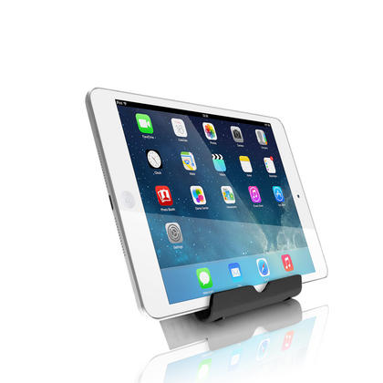 iGadgitz Black Aluminium Adjustable Tablet & Smartphone Holder Stand (iPhones iPad Motorola Samsung Sony Xperia HTC etc) Thumbnail 3