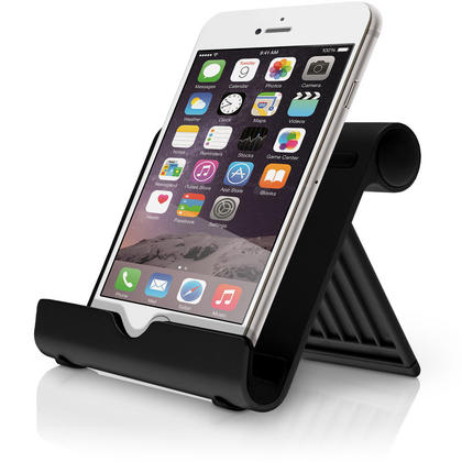 iGadgitz Black Aluminium Adjustable Tablet & Smartphone Holder Stand (iPhones iPad Motorola Samsung Sony Xperia HTC etc) Thumbnail 5