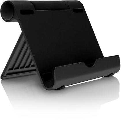 iGadgitz Black Aluminium Adjustable Tablet & Smartphone Holder Stand (iPhones iPad Motorola Samsung Sony Xperia HTC etc) Thumbnail 6