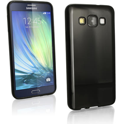 iGadgitz Glossy TPU Gel Skin Case Cover for Samsung Galaxy A3 SM-A300F + Screen Protector Thumbnail 2