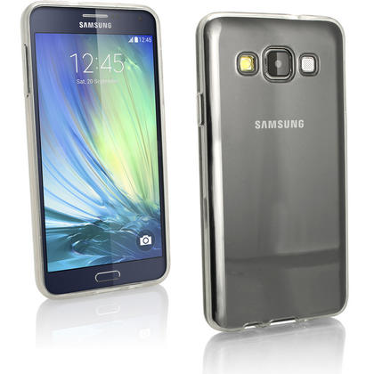 iGadgitz Glossy TPU Gel Skin Case Cover for Samsung Galaxy A3 SM-A300F + Screen Protector Thumbnail 4