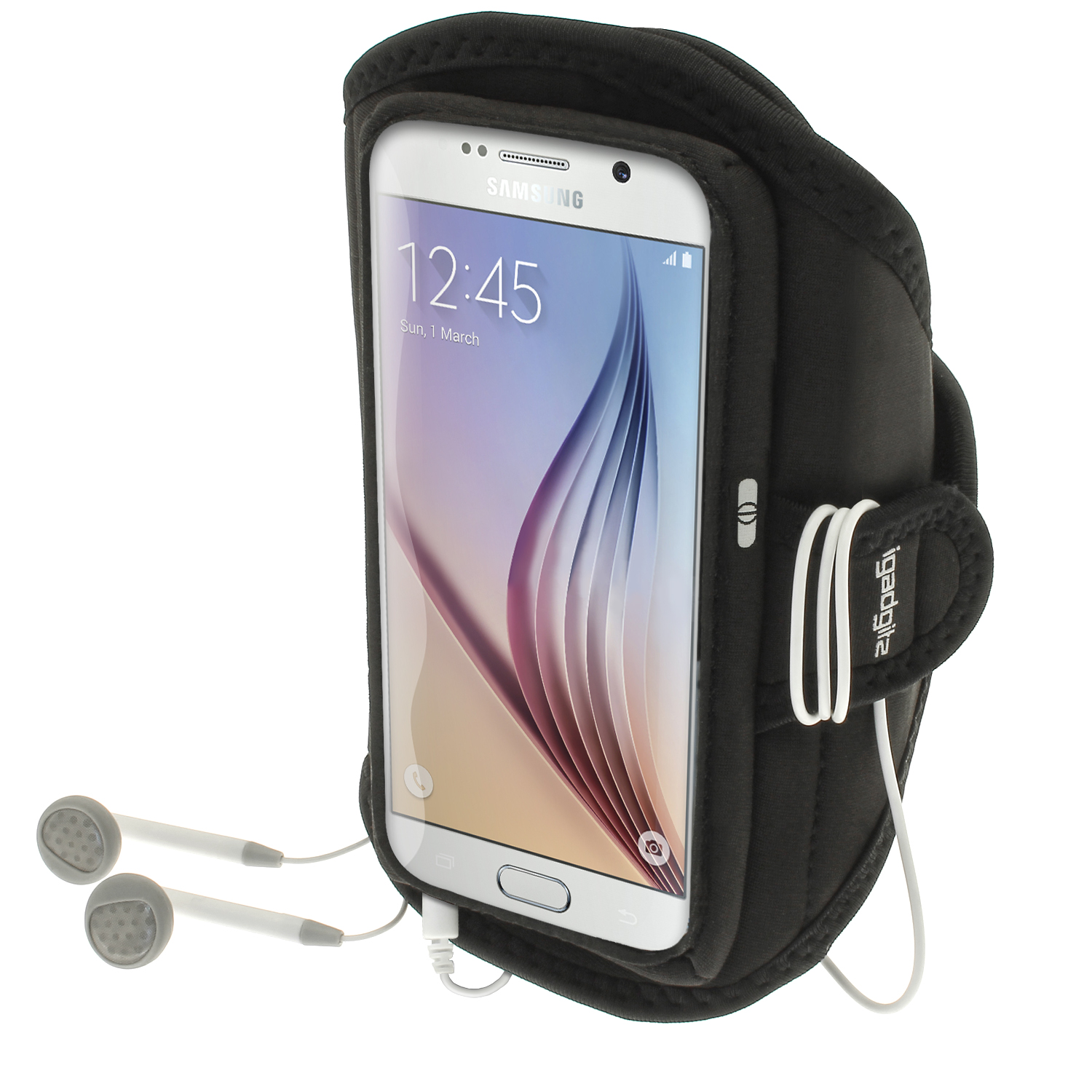 iGadgitz Water Resistant Sports Jogging Gym Armband for Samsung Galaxy S6 SM-G920F & S7 SM-G930