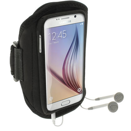 iGadgitz Water Resistant Sports Jogging Gym Armband for Samsung Galaxy S6 SM-G920F & S7 SM-G930 Thumbnail 2