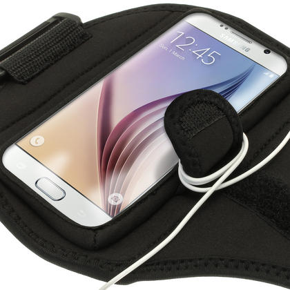 iGadgitz Water Resistant Sports Jogging Gym Armband for Samsung Galaxy S6 SM-G920F & S7 SM-G930 Thumbnail 3