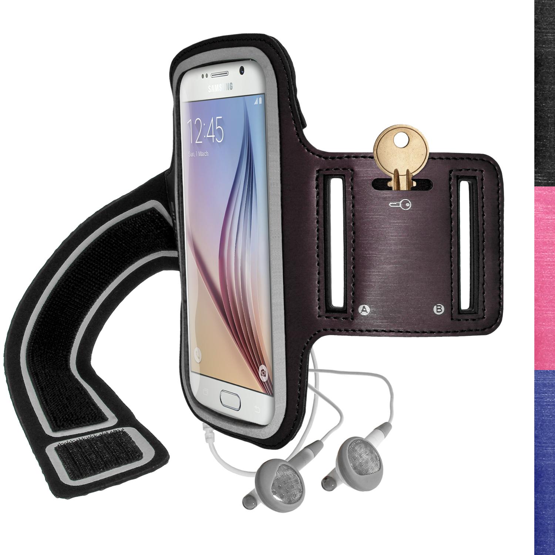 igadgitz reflective anti slip sports jogging gym armband for samsung galaxy s6 sm g920 s7 sm. Black Bedroom Furniture Sets. Home Design Ideas