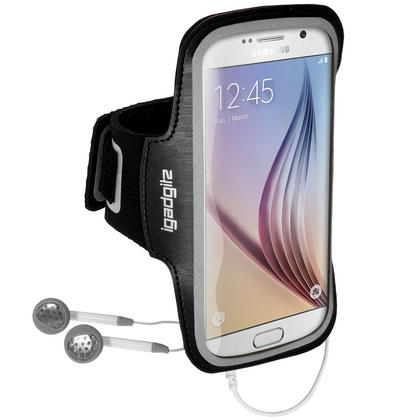 iGadgitz Reflective Anti-Slip Sports Jogging Gym Armband for Samsung Galaxy S6 SM-G920 & S7 SM-G930 with Key Slot Thumbnail 2