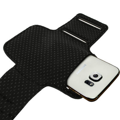 iGadgitz Reflective Anti-Slip Sports Jogging Gym Armband for Samsung Galaxy S6 SM-G920 & S7 SM-G930 with Key Slot Thumbnail 3