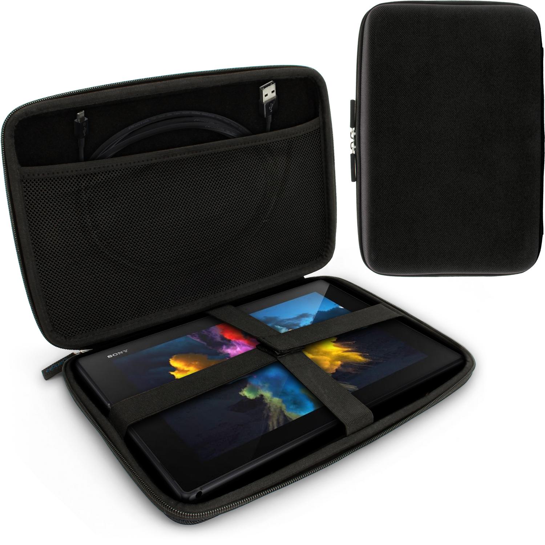 """iGadgitz Black EVA Hard Carry Case With Shoulder Strap for Sony Xperia Z4 SGP771 10.1"""" Tablet Bag"""