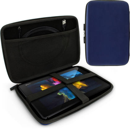 "iGadgitz Blue EVA Hard Carry Case With Shoulder Strap for Sony Xperia Z4 SGP771 10.1"" Tablet Bag Thumbnail 1"