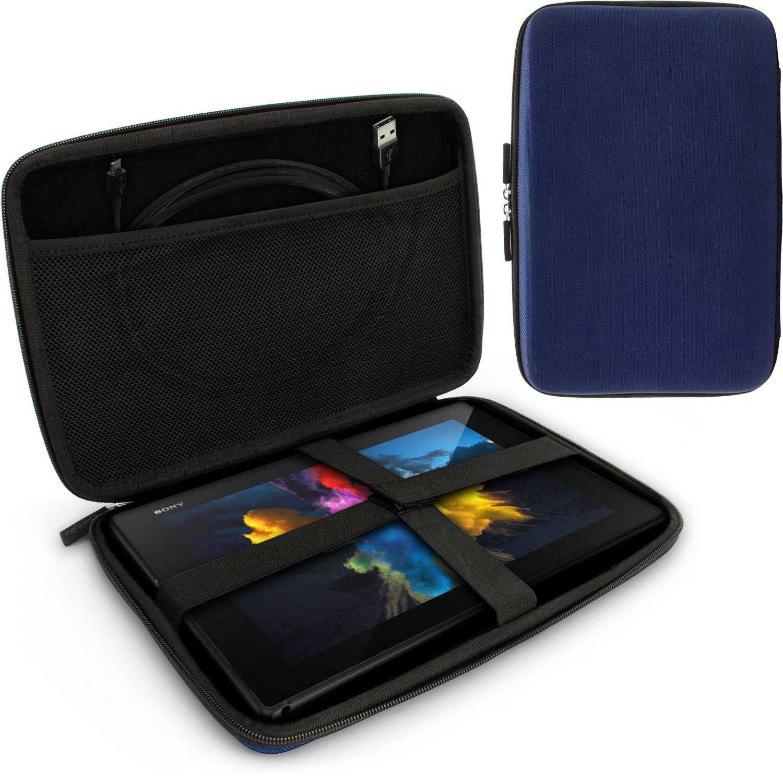 "iGadgitz Blue EVA Hard Carry Case With Shoulder Strap for Sony Xperia Z4 SGP771 10.1"" Tablet Bag"