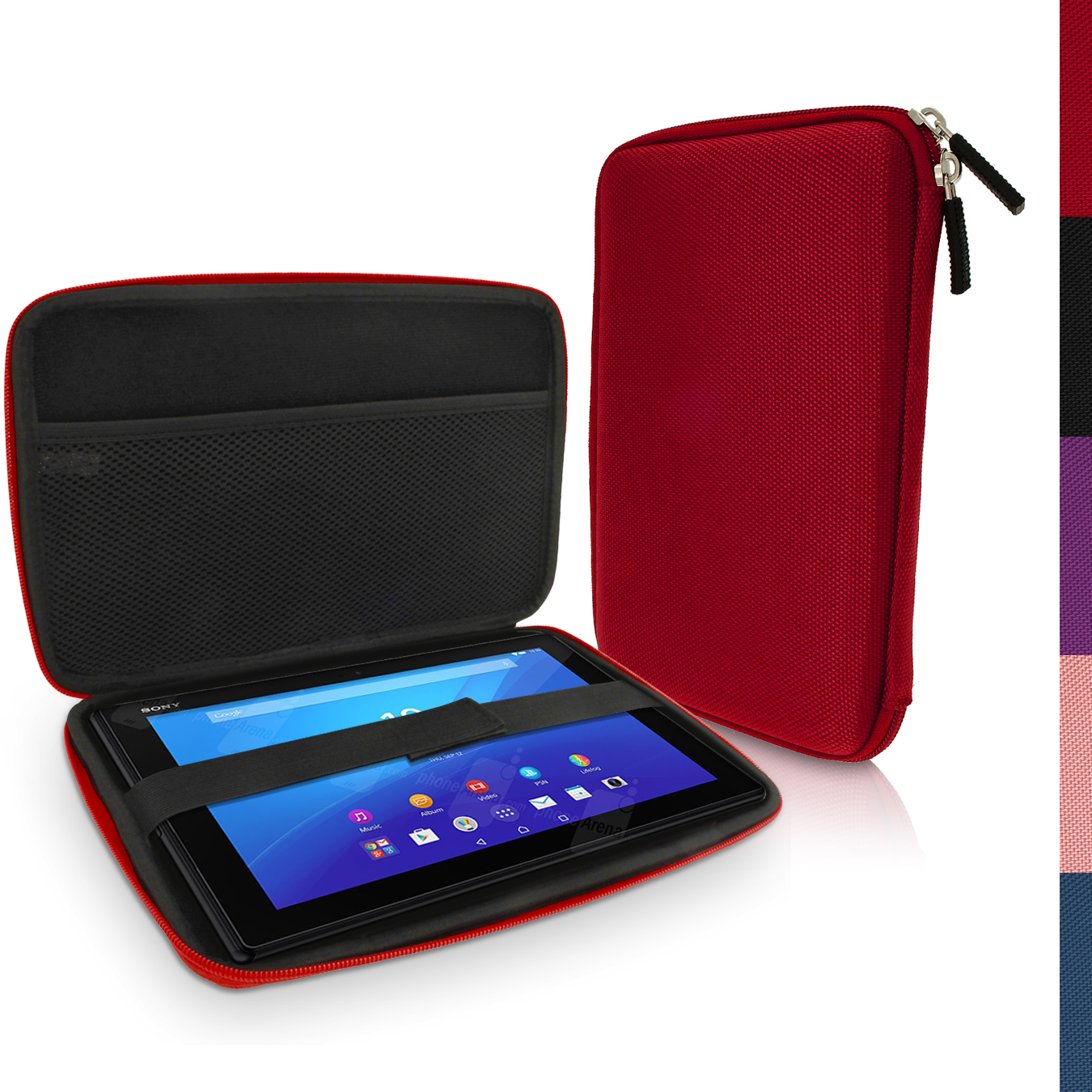 "iGadgitz Red EVA Hard Carry Case for Sony Xperia Z4 SGP771 10.1"" Tablet Bag"