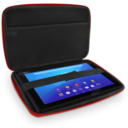"""iGadgitz Red EVA Hard Carry Case for Sony Xperia Z4 SGP771 10.1"""" Tablet Bag Thumbnail 6"""