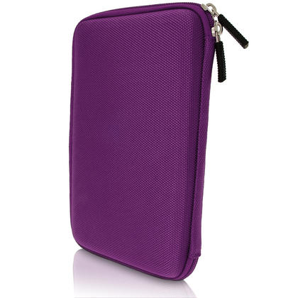"iGadgitz Purple EVA Hard Carry Case With Shoulder Strap for Sony Xperia Z4 SGP771 10.1"" Tablet Bag Thumbnail 2"