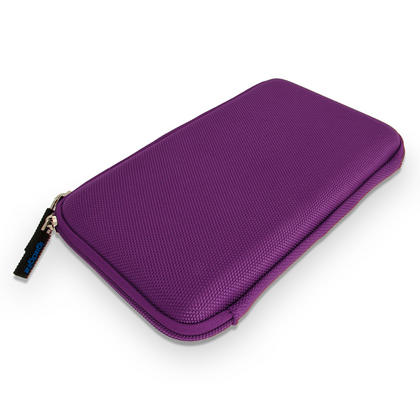 "iGadgitz Purple EVA Hard Carry Case With Shoulder Strap for Sony Xperia Z4 SGP771 10.1"" Tablet Bag Thumbnail 4"