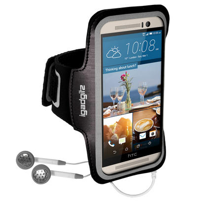 iGadgitz Reflective Anti-Slip Sports Jogging Gym Armband for HTC One M9 (2015) with Key Slot Thumbnail 4
